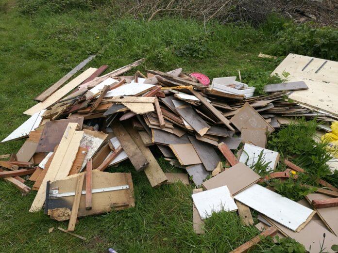 Fly-tipped rubbish in Brandwood, Birmingham