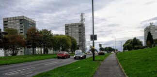 High Rise Flats in Druids Heath, Birmingham