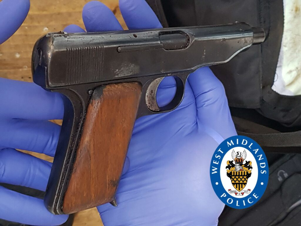 Gun recovered by police in Solihull