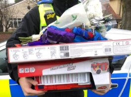 Neighbourhood officers donate toys after burglary