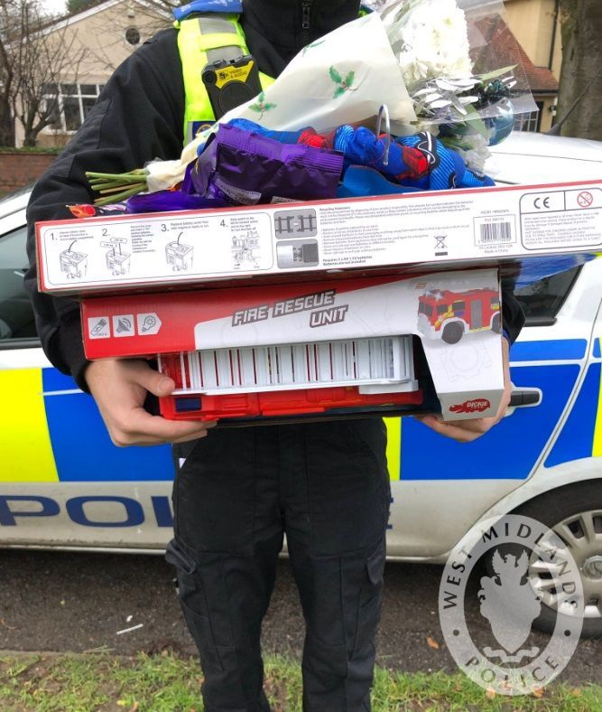 Neighbourhood officers donate toys after burglary