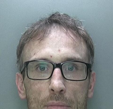 Adam Pardoe who was found snoozing in a bed by police