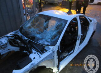 Audi shell found at Alum Rock Road chop shop
