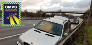 Crashed BMW X5 on the M42 Southbound
