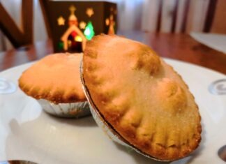 Mince Pies on a plate at Christmas