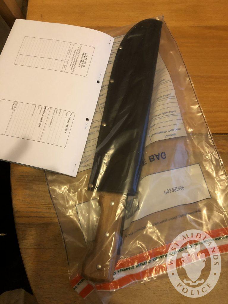 Large knife found in Alum rock raids