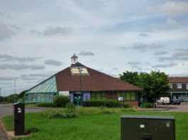 Druids Heath Library which has been temp closed by Birmingham City Council