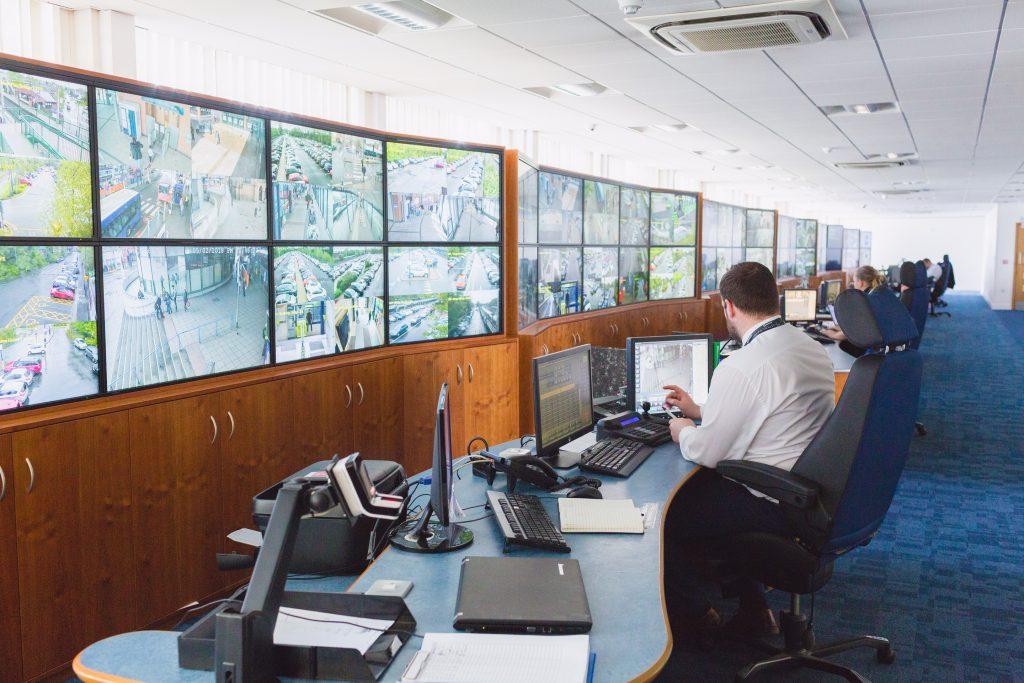 Transport for West Midlands CCTV control room