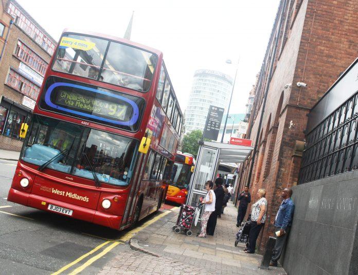 Bus in Digbeth, Birmingham
