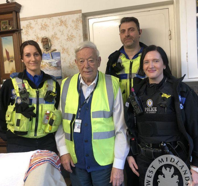 Dedicated police volunteer Cyril Beavor