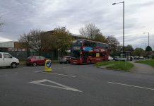National Express West Midlands bus in Druids Heath, Birmingham