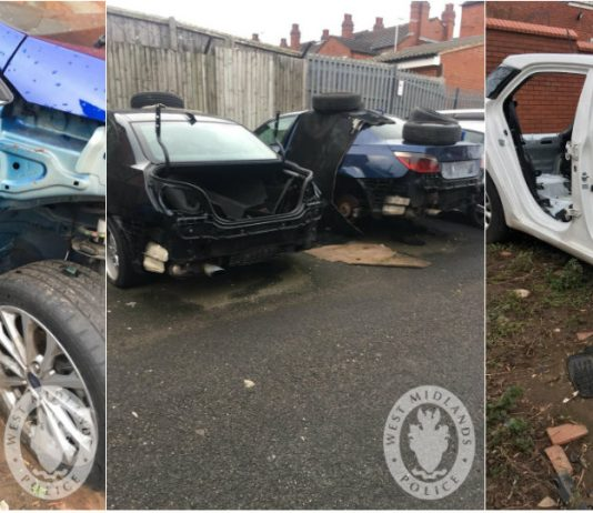 Stolen cars and parts located by police following raids across Birmingham