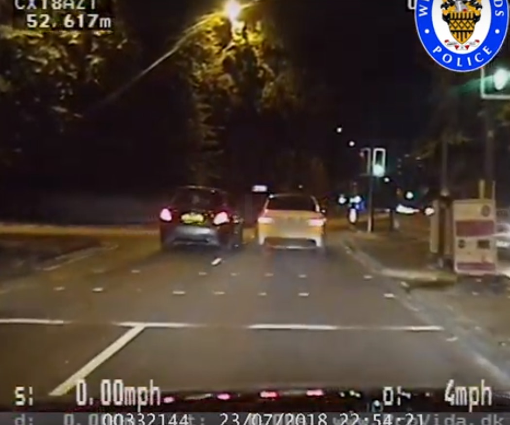 Watch: The moment a driver rolls his Mercedes after trying